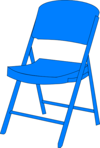 Blue Chair Fold Up Clip Art at Clker.com - vector clip art ...