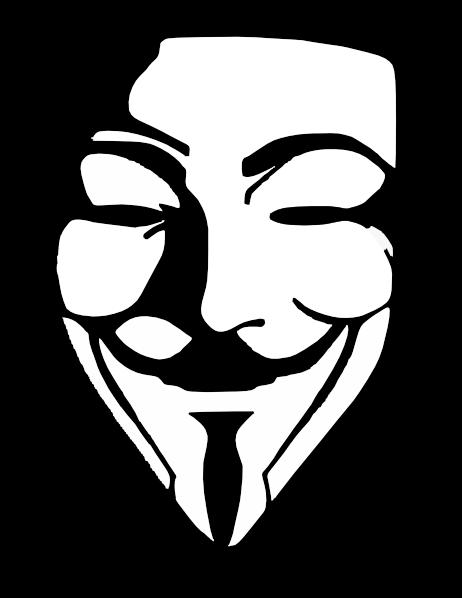 V For Vendetta Mask Vector V White Stencil Clip A...