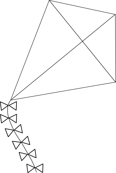 Line Art Kite : Indian kite black and white clipart imgkid the