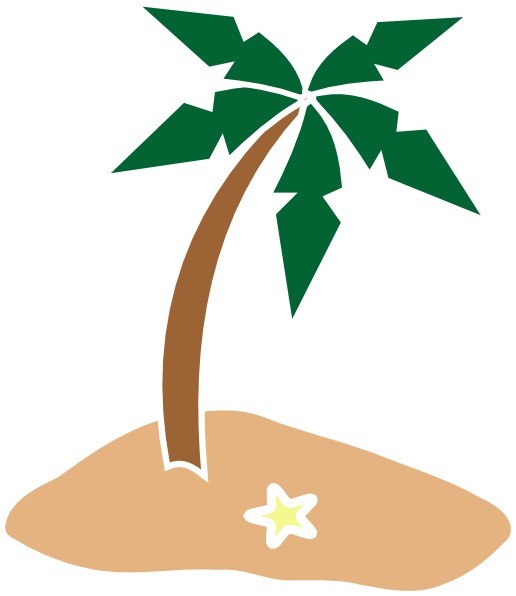 Palm Tree On Island Clip Art at Clker.com - vector clip ...