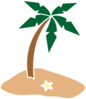Palm Tree On Island Clip Art