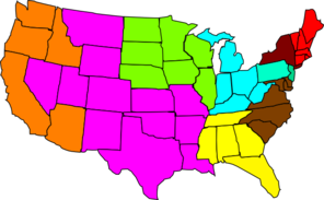 Us Map Regional Clip Art