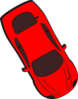 Red Car - Top View - 300 Clip Art