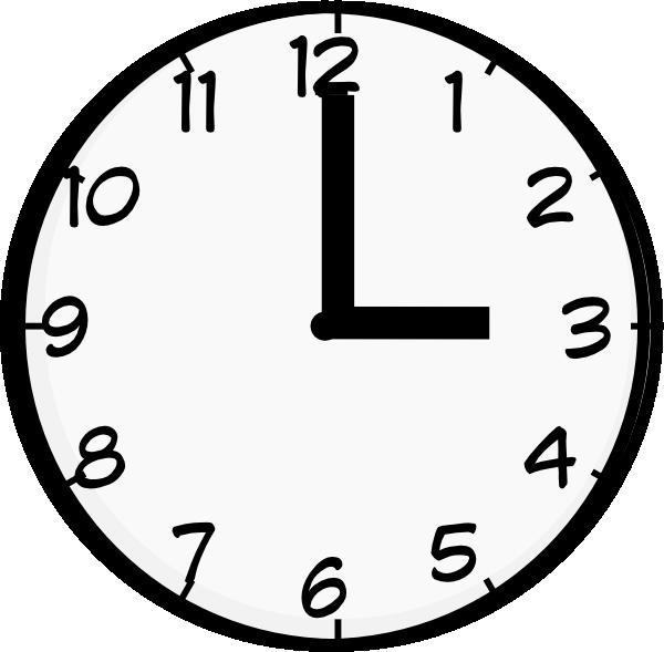 3 O Clock Clip Art At Clker Com Vector Clip Art Online