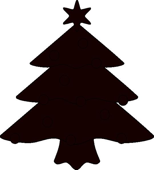 Christmas Tree Sillhouette Clip Art at Clker.com - vector ...