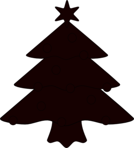 Christmas Tree Sillhouette Clip Art