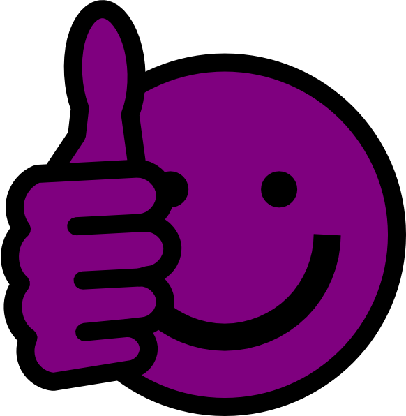 purple thumbs up clip art at clker com vector clip art online rh clker com free clipart thumbs up sign free clipart two thumbs up