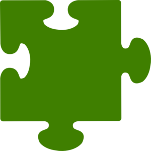 Green Puzzle Piece 2 Clip Art