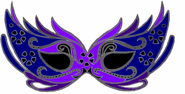 Masquerademask Purple Amp Blue Clip Art At Clker Com Vector