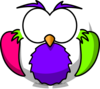 Pink And Purple Hoot 2 Clip Art