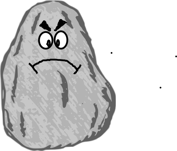 Angry rock clip art at clker com vector clip art online royalty