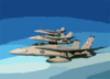 F/a-18  Hornet  Strike Fighters From Carrier Air Wing One Seven (cvw 17) Clip Art
