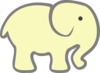 Pale Yellow Elephant Clip Art