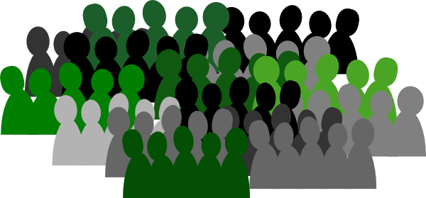 Green Crowd Clip Art at Clker.com - vector clip art online ...