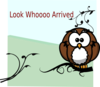 Owl On Branch 3 Clip Art