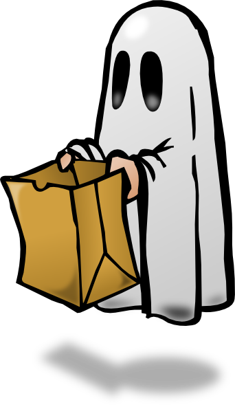 Ghost Trick Or Treating Clip Art at Clker.com - vector clip art online ...
