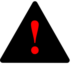Black Black Red Warning 1 Clip Art