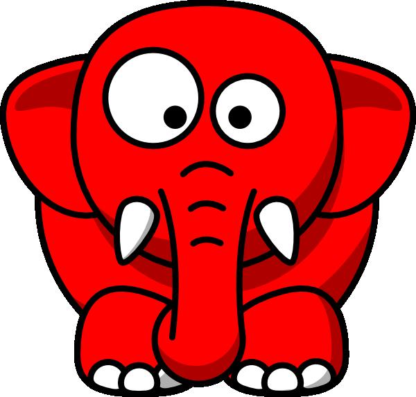Baby Elephant Red Clip Art at Clker.com - vector clip art online ...