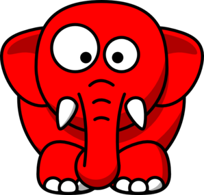 Baby Elephant Red Clip Art