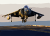 An Av-8b Ii Harrier Lands On The Flight Deck Clip Art