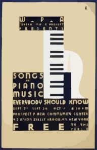 Wpa Federal Music Project Presents Songs And Piano Music Everybody Should Know Free To The Public / Bl. Clip Art