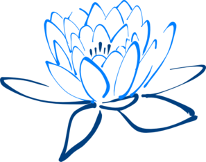 Light Dark Blue Lotus Clip Art