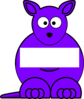 Purple Sightword Kangaroo Clip Art