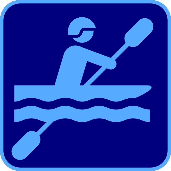 Kayak Logo Blue Clip Art At Clker Com Vector Clip Art