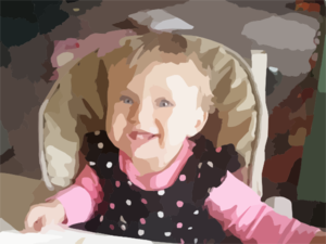Baby In High Chair Clip Art