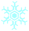 Inverted Snowflake Clip Art