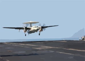 An E-2c Hawkeye Makes Its Final Approach To The Aircraft Carrier John F. Kennedy (cv 67) After Completing A Training Mission. Clip Art