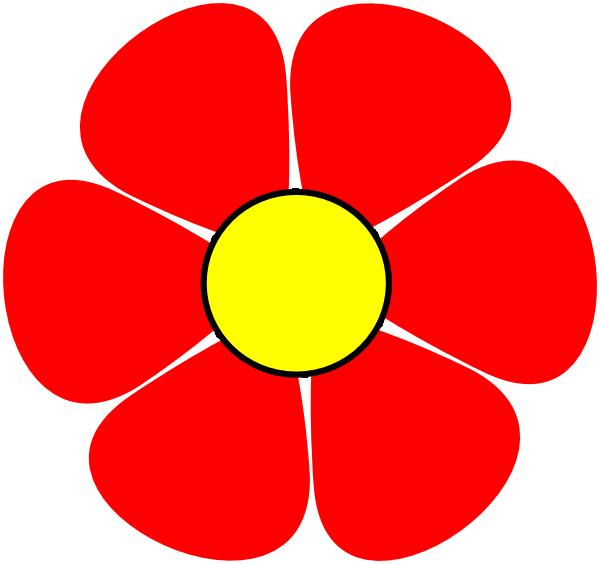 red flower clip art at clker com vector clip art online royalty rh clker com clipart spring flowers free clipart tulips spring flowers