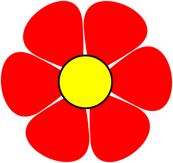 Red Flower Clip Art at Clker.com - vector clip art online, royalty ...