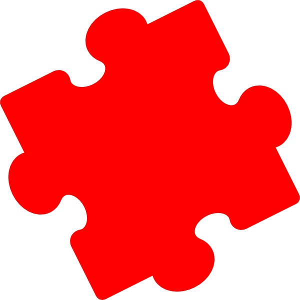 Puzzlepiecered Clip Art at Clker.com - vector clip art ...