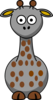 Gray Giraffe With 20 Dots Clip Art