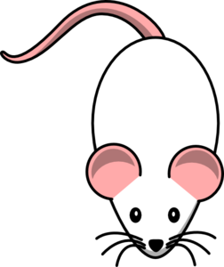 White With Pink Ears Clip Art
