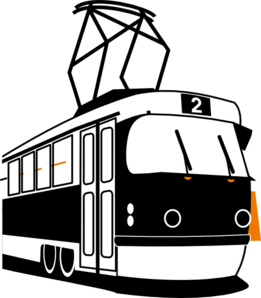 Trolly Black Clip Art