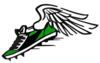 Green Winged Shoe Clip Art