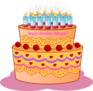 Natasa Birthday Cake Clip Art