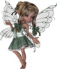 Fantasy Fairy Standing Green  Image