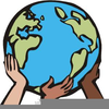 Hands Holding The Earth Clipart Image