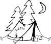 Sleeping In A Tent Clip Art