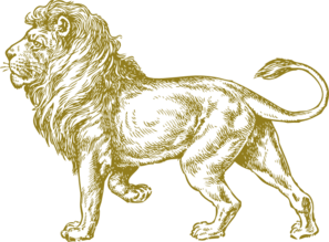 Lion Real Gold Clip Art
