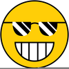 Happy Face Black And White Clipart Image
