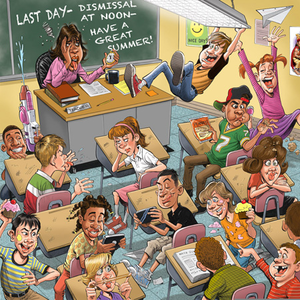 Unruly Classroom Cartoon | Free Images at Clker.com - vector clip art online, royalty ...