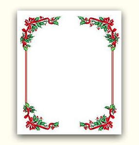 Christmas Garland Border Clipart Free Free Images At Clker Com