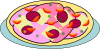 Pizza On A Plate Clip Art