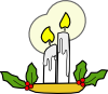 Christmas Candles Clip Art