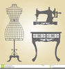 Silhouette Clipart Sewing Machine Image