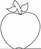 Clipart Apple Outline Image
